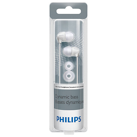 Buy Philips SHE3590 In-Ear Headphones, White Online at johnlewis.com