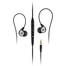 Buy Sennheiser MM80i In-Ear Headphones, Black Online at johnlewis.com