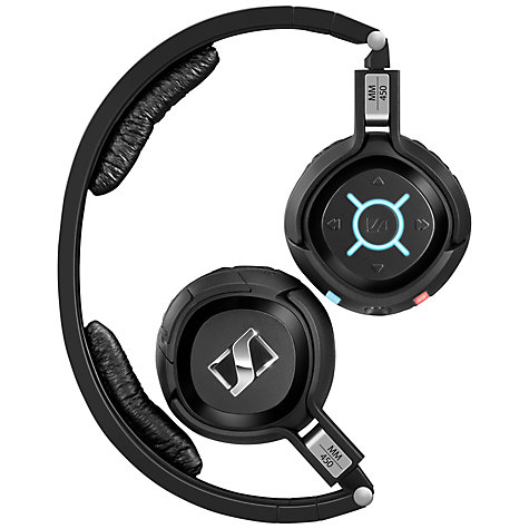 Buy Sennheiser MM450-X On-Ear Noise Cancelling Wireless Headphones, Black Online at johnlewis.com