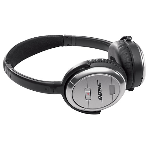 Buy Bose® QuietComfort® Noise Cancelling® QC3II Acoustic On-Ear Headphones, Silver Online at johnlewis.com