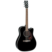 Buy Yamaha GFX370C Electro-Acoustic Guitar, Black Online at johnlewis.com