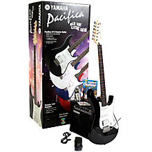 Buy Yamaha Pacifica 012 Electric Guitar, Black with Amplifier and Accessories Online at johnlewis.com