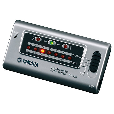 Buy Yamaha YT100 Guitar/Bass Tuner, Silver Online at johnlewis.com