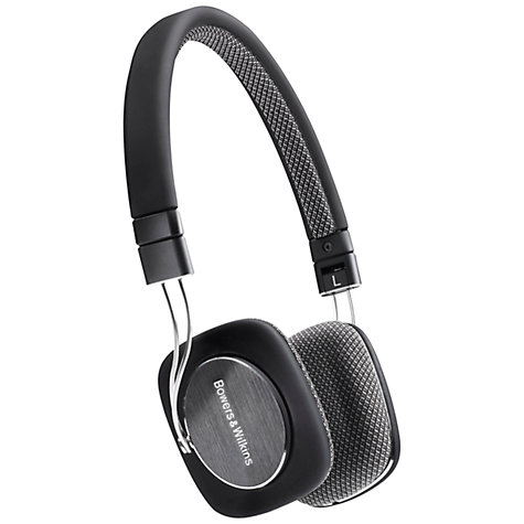 Buy Bowers & Wilkins P3 On-Ear Headphones, Black Online at johnlewis.com