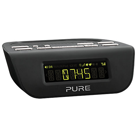 buy pure siesta mi series 2 dab fm bedside clock radio john lewis. Black Bedroom Furniture Sets. Home Design Ideas