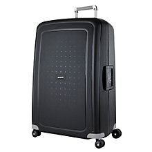 Buy Samsonite S'Cure 4-Wheel 75cm Large Suitcase, Black Online at johnlewis.com
