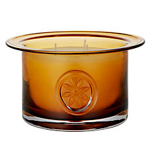 Buy Dartington Crystal 3 Wick Flower Candles Online at johnlewis.com