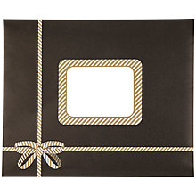 Buy Posh Post Padded Envelope with Bow, Black, Small Online at johnlewis.com