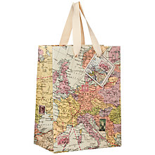 Buy Wild and Wolf Maps Gift Bag, Small Online at johnlewis.com