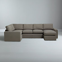 Buy House by John Lewis Finlay Grand Corner Chaise End Unit, Clay Online at johnlewis.com