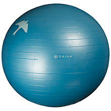 Buy Gaiam Eco Printed Balance Ball, Blue Online at johnlewis.com