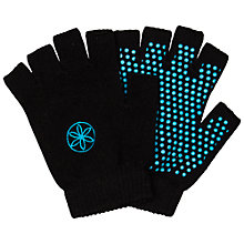 Buy Gaiam Super Grippy Yoga Gloves, Black/Blue Online at johnlewis.com
