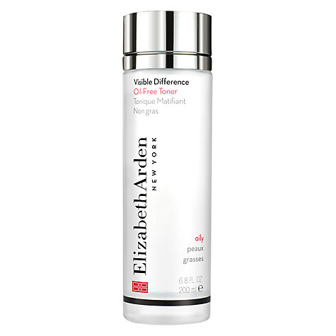Buy Elizabeth Arden Visible Difference Oil-Free Toner, 200ml Online at johnlewis.com