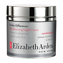 Buy Elizabeth Arden Visible Difference Skin Balancing Night Cream, 50ml Online at johnlewis.com