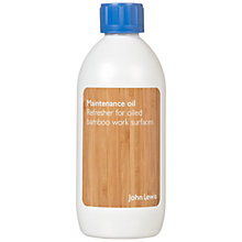 Buy John Lewis Bamboo Maintenance Oil Online at johnlewis.com