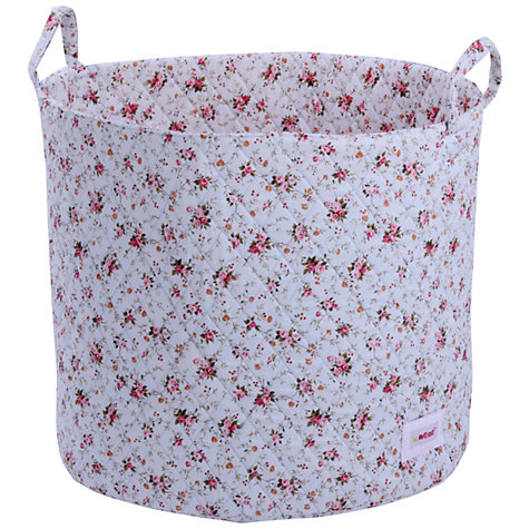 Buy Minene Large Flowers Storage Basket, Blue Online at johnlewis.com