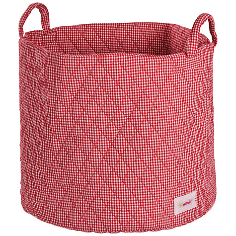 Buy Minene Large Gingham Storage Bag, Red Online at johnlewis.com