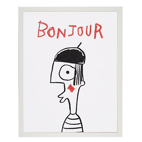 Buy House by John Lewis, Stephen Davids - Bonjour Unframed Print, 24 x 30cm Online at johnlewis.com
