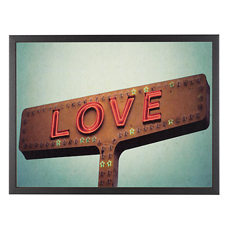 Buy House by John Lewis, Robert Cadloff - Love Sign Unframed Print, 30 x 40cm Online at johnlewis.com