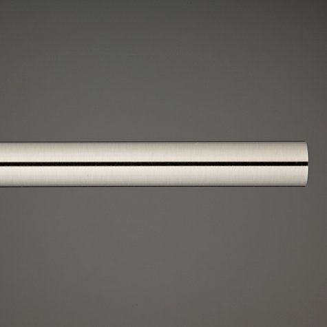 Buy John Lewis Steel Curtain Pole, L120cm x Dia.19mm Online at johnlewis.com