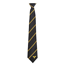 Buy Bucksburn Academy Unisex Clip-On Tie, Black/Gold Online at johnlewis.com
