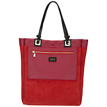 Buy Furla Tribe Leather Shopper Handbag, Red Online at johnlewis.com