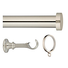 Buy John Lewis Steel Curtain Pole Kit, Traditional Brackets, L150cm x Dia.28mm Online at johnlewis.com