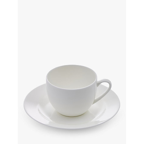 Buy Royal Worcester Serendipity Bone China Teacup & Saucer, White Online at johnlewis.com