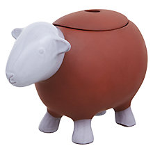 Buy Jme Herdy Sauce Pot with Lid, Terracotta Online at johnlewis.com