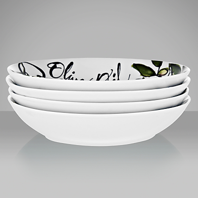 DRH Collection Rosanna Olive Oil Pasta Bowls, Assorted, Box of 4