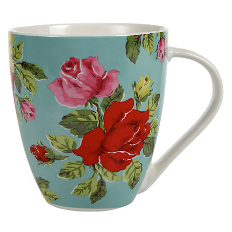 Buy Cath Kidston Royal Rose Mug, Blue Online at johnlewis.com