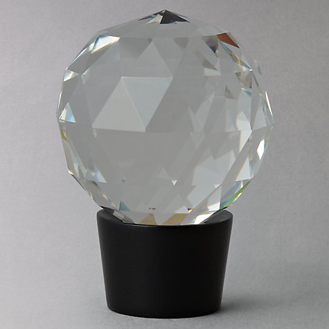 Buy John Lewis Black Glass Finial, Dia.19mm Online at johnlewis.com