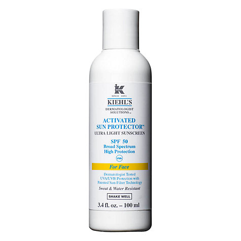 Buy Kiehl's Activated Sun Protector for Face SPF 50, 100ml Online at johnlewis.com