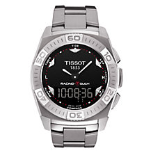 Buy Tissot T0025201105100 Men's Black Dial Racing Bracelet Watch, Silver Online at johnlewis.com