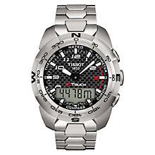 Buy Tissot T0134204420200 Men's T-Touch Bracelet Watch, Silver Online at johnlewis.com