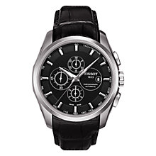 Buy Tissot T0356271605100 Men's Couturie Leather Strap Watch, Black Online at johnlewis.com