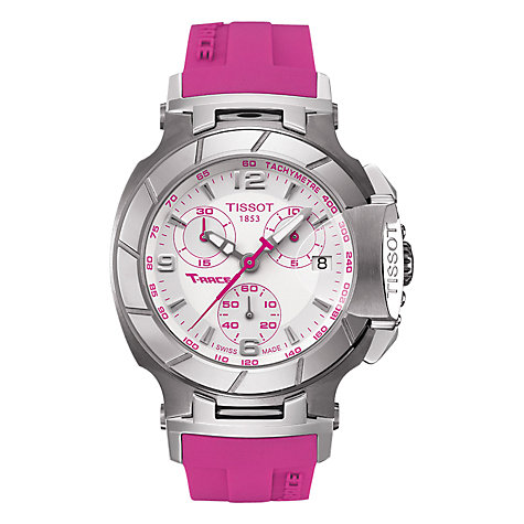 Buy Tissot Women's T-Race Rubber Strap Watch Online at johnlewis.com