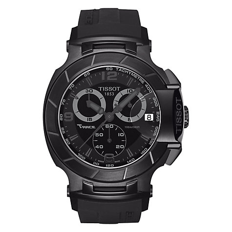 Buy Tissot Men's T-Race Rubber Strap Watch Online at johnlewis.com