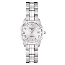 Buy Tisssot T0492101103300 Women's PR100 Round Silver Dial Bracelet Watch, Silver Online at johnlewis.com