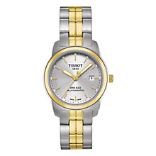 Buy Tissot T0493072203100 Women's PR100 Two-Tone Bracelet Watch, Silver / Gold Online at johnlewis.com