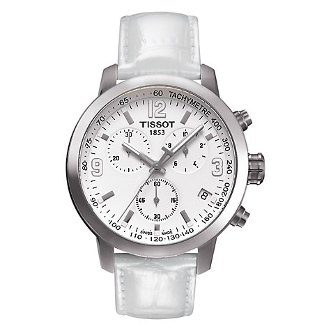 Buy Tissot Men's PRS200 Chronograph Leather Strap Watch Online at johnlewis.com