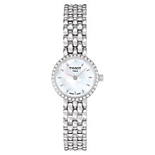 Buy Tissot T0580096111600 Women's Lovely Diamond Set Bezel Bracelet Watch, Silver Online at johnlewis.com