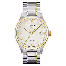Buy Tissot T0604072203100 Men's T-Tempo Two-Tone Brushed Silver Dial Bracelet Watch, Silver / Gold Online at johnlewis.com