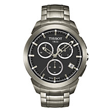 Buy Tissot T0694174406100 Men's Titanium Chronograph Bracelet Watch, Silver / Black Online at johnlewis.com
