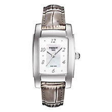 Buy Tissot T0733101611601 Women's T10 Leather Strap Watch, Beige Online at johnlewis.com