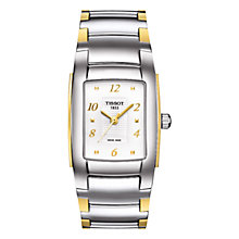 Buy Tissot T0733102201700 Women's T10 Bracelet Watch, Silver / Gold Online at johnlewis.com