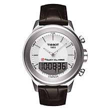 Buy Tissot T0834201601100 Men's Classic T-Touch Bracelet Watch, Brown / Silver Online at johnlewis.com