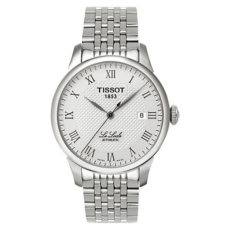 Buy Tissot T41148333 Men's Le Locle Bracelet Watch, Silver Online at johnlewis.com