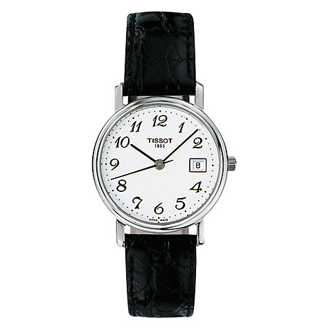 Buy Tissot T52112112 Women's Desire Leather Strap Watch Online at johnlewis.com