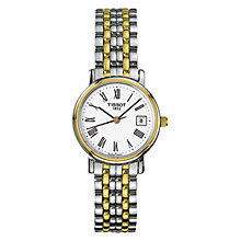 Buy Tissot T52228113 Women's Desire Two-Tone Bracelet Watch, Silver / Gold Online at johnlewis.com